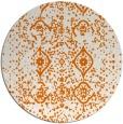 rug #1098962 | round orange damask rug