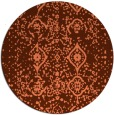 rug #1098970   round orange faded rug