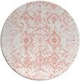 rug #1098986 | round pink damask rug