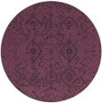 rug #1098990 | round purple faded rug