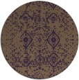 rug #1098998 | round purple faded rug