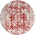 rug #1099006 | round red traditional rug
