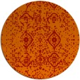 rug #1099010 | round red traditional rug