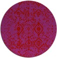 rug #1099018 | round red popular rug