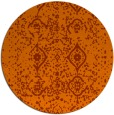 rug #1099022 | round red-orange damask rug