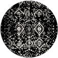 rug #1099042 | round black faded rug