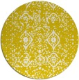 rug #1099046 | round white traditional rug