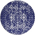 rug #1099050 | round blue faded rug