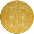 rug #1099070 | round yellow damask rug