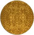 rug #1099082 | round yellow damask rug