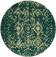 rug #1099086 | round yellow damask rug