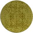 rug #1099090 | round light-green damask rug