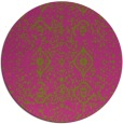 rug #1099098 | round light-green damask rug