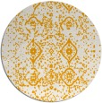 rug #1099106 | round light-orange damask rug
