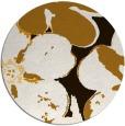 rug #109937 | round brown rug