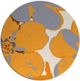 rug #109989 | round light-orange natural rug