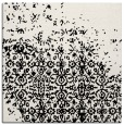 rug #1101334 | square black damask rug