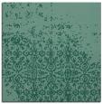 rug #1101386   square blue-green damask rug