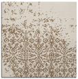 rug #1101486 | square mid-brown damask rug