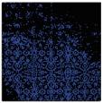 rug #1101530 | square black damask rug