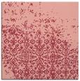rug #1101558 | square pink damask rug