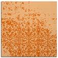 rug #1101602   square red-orange damask rug