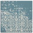 rug #1101638 | square blue-green damask rug