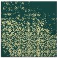 rug #1101662 | square yellow damask rug