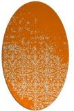 rug #1101698   oval orange faded rug