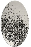 rug #1101702 | oval black graphic rug