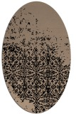 rug #1101710 | oval black traditional rug