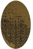 rug #1101718 | oval mid-brown rug