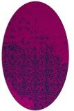 rug #1101734 | oval blue faded rug