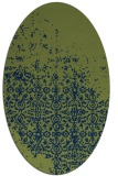 rug #1101742 | oval blue traditional rug