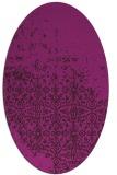 rug #1101784 | oval damask rug