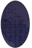 rug #1101786 | oval blue-violet traditional rug