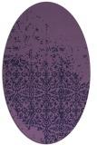 rug #1101798 | oval purple damask rug