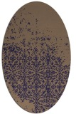 rug #1101806 | oval beige faded rug