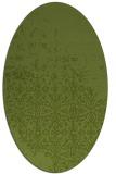 rug #1101826 | oval green traditional rug