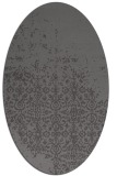 rug #1101850 | oval brown rug