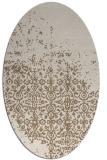 rug #1101854   oval beige damask rug
