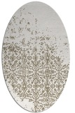 rug #1101858 | oval white faded rug