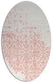 rug #1101930 | oval pink graphic rug