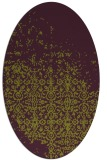 rug #1101939 | oval damask rug