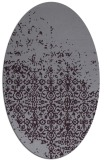 rug #1101946 | oval purple traditional rug