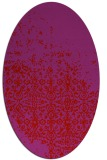 rug #1101962 | oval red damask rug