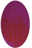 rug #1101964 | oval faded rug