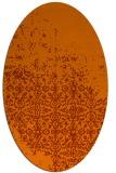 rug #1101966 | oval red-orange damask rug