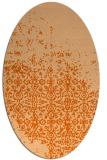 rug #1101970   oval red-orange faded rug