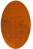 rug #1101974 | oval red-orange damask rug